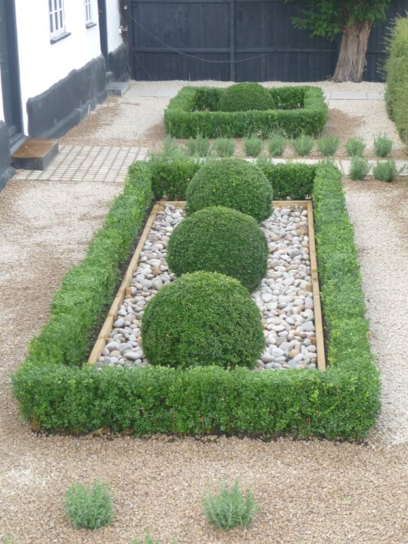 Asola garden landscaping cambridgeshire for Garden design ideas with hedges