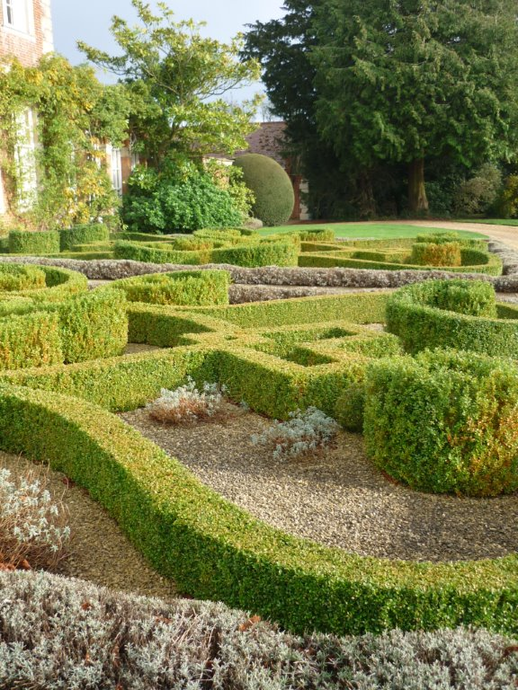 Topiary box Knot garden 8 years after completion Norfolk